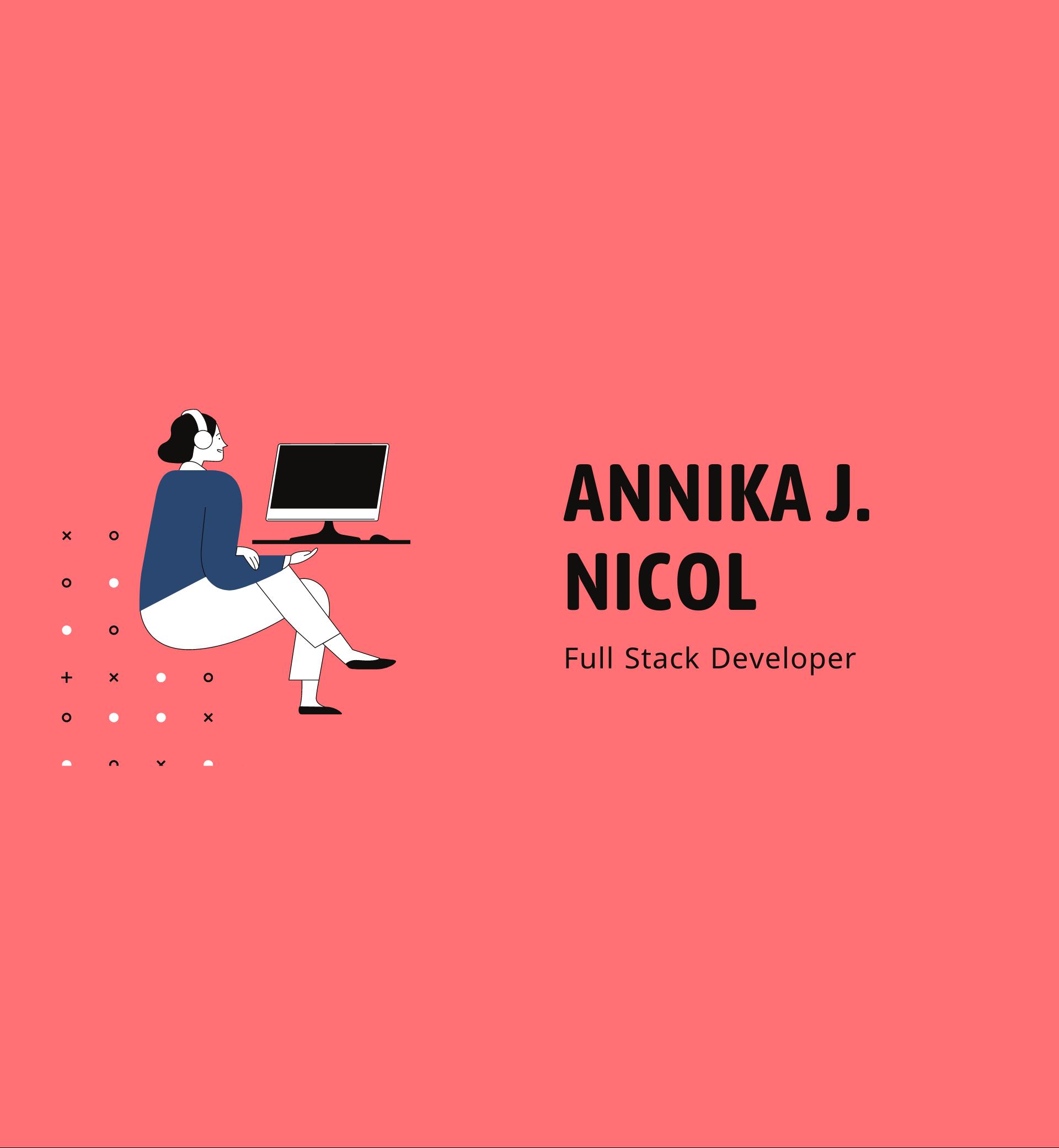 Annika J Nicol, Full stack Developer